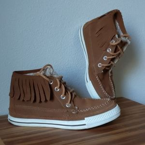 Converse Suede High Top Fringe